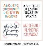 vector set of four difference... | Shutterstock .eps vector #405926116