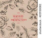 vector seafood designer... | Shutterstock .eps vector #405930082