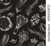 vector vegetable hand drawn... | Shutterstock .eps vector #405932872