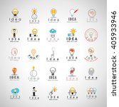 idea icons set isolated on gray ... | Shutterstock .eps vector #405933946