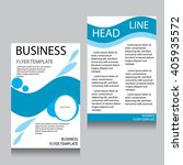 vector brochure flyer design... | Shutterstock .eps vector #405935572