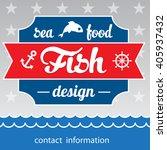 seafood restaurant concept... | Shutterstock .eps vector #405937432