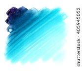 abstract blue watercolor blot...   Shutterstock . vector #405945052