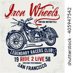 motorcycle typography  t shirt... | Shutterstock .eps vector #405947542