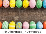 vintage colorful easter eggs on ... | Shutterstock . vector #405948988