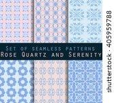 set of geometric seamless... | Shutterstock .eps vector #405959788