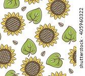 vector seamless sunflower...   Shutterstock .eps vector #405960322