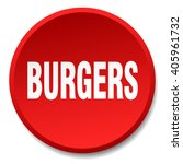 burgers red round flat isolated ... | Shutterstock .eps vector #405961732