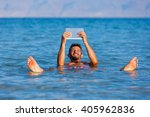 Man At The Dead Sea  Israel.