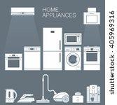 home appliances | Shutterstock .eps vector #405969316