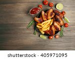 Baked Chicken Wings With Frenc...