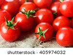 Cherry Tomatoes On The Napkin....