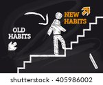 old habits new habits  ... | Shutterstock . vector #405986002
