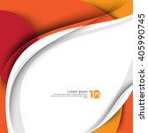waving bent lines abstract... | Shutterstock .eps vector #405990745