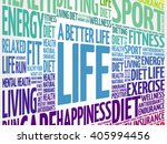 a better life word cloud... | Shutterstock .eps vector #405994456