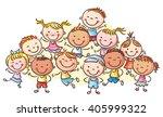 group of happy kids  no... | Shutterstock .eps vector #405999322