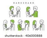 handshake isolated on white... | Shutterstock .eps vector #406000888