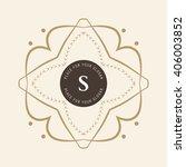 the letter s. flourishes... | Shutterstock .eps vector #406003852
