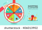 shopping illustrations | Shutterstock .eps vector #406013902