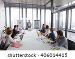 business man talking about... | Shutterstock . vector #406014415