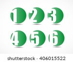 collection of empty rounded... | Shutterstock .eps vector #406015522