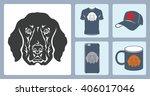 vector dog logo printing....   Shutterstock .eps vector #406017046