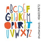 sketchy abc for your design.   Shutterstock .eps vector #406019872
