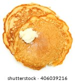 two sugar free pancakes with... | Shutterstock . vector #406039216