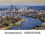 england  uk   aerial skyline... | Shutterstock . vector #406043446