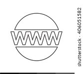 world wide web symbol icon... | Shutterstock .eps vector #406051582
