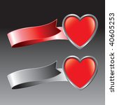 heart shape on red and gray...   Shutterstock .eps vector #40605253