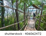 Hanging Bridge  And Wooden...