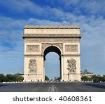 beautiful  view of the arc de... | Shutterstock . vector #40608361