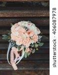 beautiful wedding bouquet of... | Shutterstock . vector #406087978
