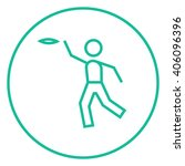 man playing with flying disc... | Shutterstock .eps vector #406096396