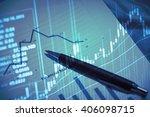 stock market chart.business...   Shutterstock . vector #406098715