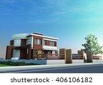 3d rendering and design  ... | Shutterstock . vector #406106182