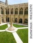 landmark of ancient cloister of ...   Shutterstock . vector #406125292