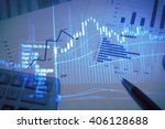 stock market information and... | Shutterstock . vector #406128688