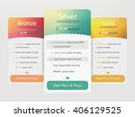 pricing plans for websites and... | Shutterstock .eps vector #406129525