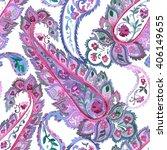 watercolor paisley seamless...   Shutterstock .eps vector #406149655
