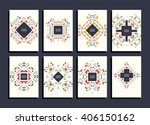 abstract colorful flyers set.... | Shutterstock .eps vector #406150162