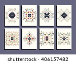 abstract colorful flyers set.... | Shutterstock .eps vector #406157482