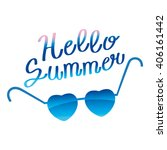 sunglasses and text hello... | Shutterstock .eps vector #406161442