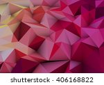 red abstract geometric  low... | Shutterstock .eps vector #406168822