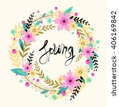 spring vector flowers vector... | Shutterstock .eps vector #406169842