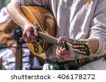 Folk music traditional instrument