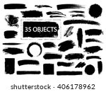 set of hand drawn  design... | Shutterstock .eps vector #406178962