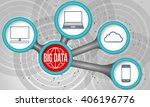 vector circular boxes and big... | Shutterstock .eps vector #406196776