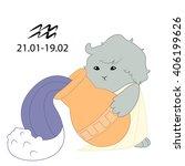 zodiac sign aquarius. vector.... | Shutterstock .eps vector #406199626